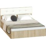 160*200 Кровать БЕЛЛАДЖИО дуб сонома/белый глянец