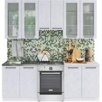 Кухонный гарнитур Нувель 2,2м Бетон белый
