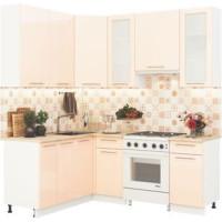 Кухонный гарнитур Олива 1,6м на 2м Глянец ваниль
