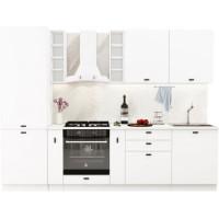 Кухонный гарнитур Чикаго 2,8м Шагрень белая
